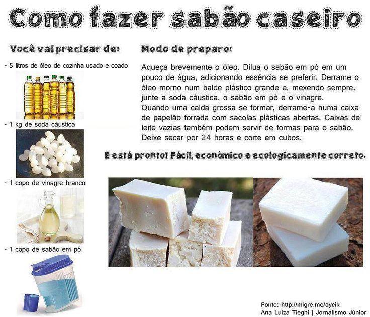 Como fazer sabão caseiro. Dica muito interessante!  Saiba como fazer mais coisas em http://www.comofazer.org