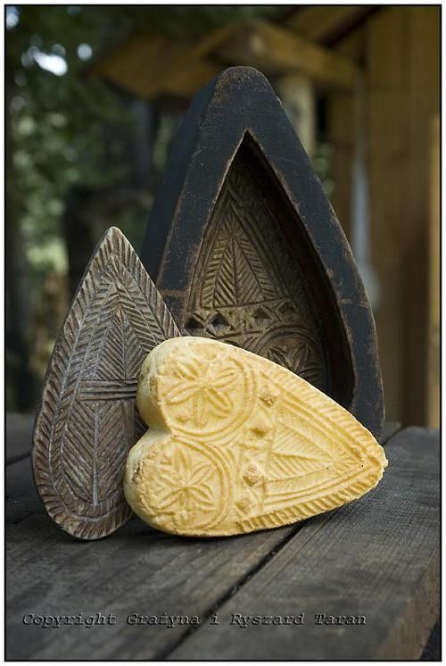 Traditional wooden forms for oscypki (cheese), Podhale, Poland.