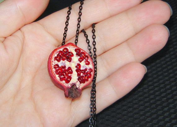 Pomegranate pendant. MADE TO ORDER.