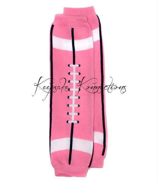 Pink Football Legwarmers Girls Pink Leg by KeepsakeKonnections