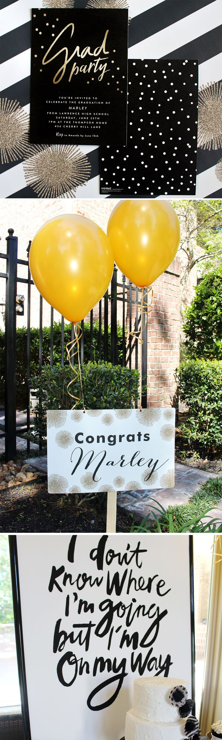 Stylish Graduation Party ideas! Love this for High School or College Graduation Parties! | Ideas elegantes para fiestas de graduación.