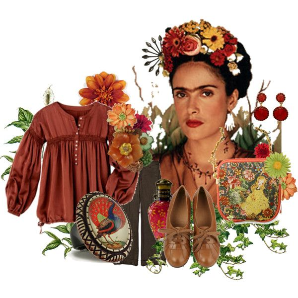 """Salma Hayek as Frida Kahlo"" by baobab on Polyvore"