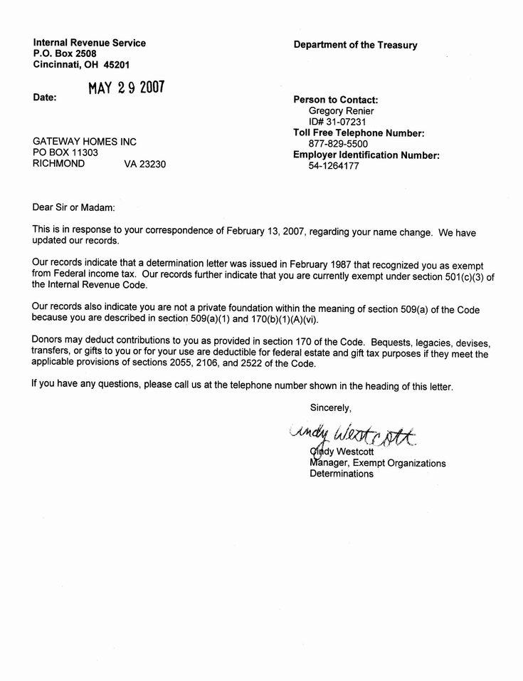 Financial statement letter inspirational non profit