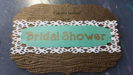 Bridal shower vintage theme invitations