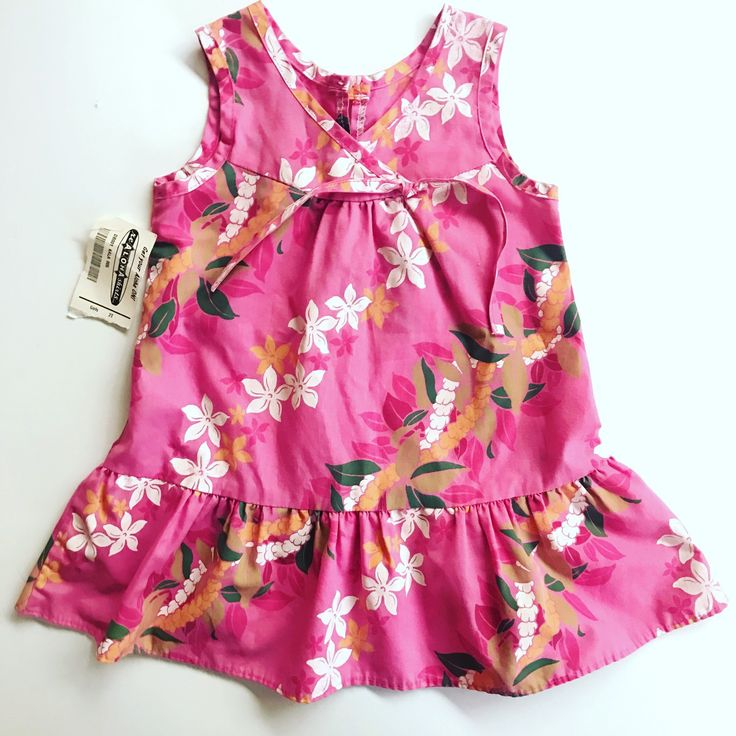 Don't you just love #vintage with the tags still attached?? Get this #hawaiian #dress for your #toddler only on #etsy and Free Shipping