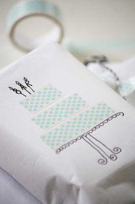 Washitapera: Ideas para envolver regalos con washi tape