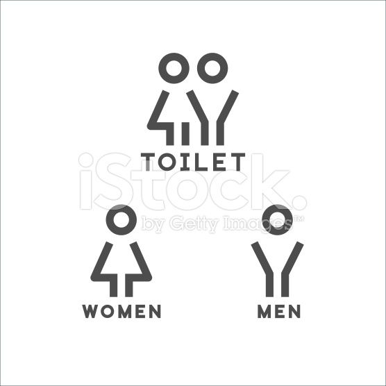 Toilet signs royalty-free stock vector art