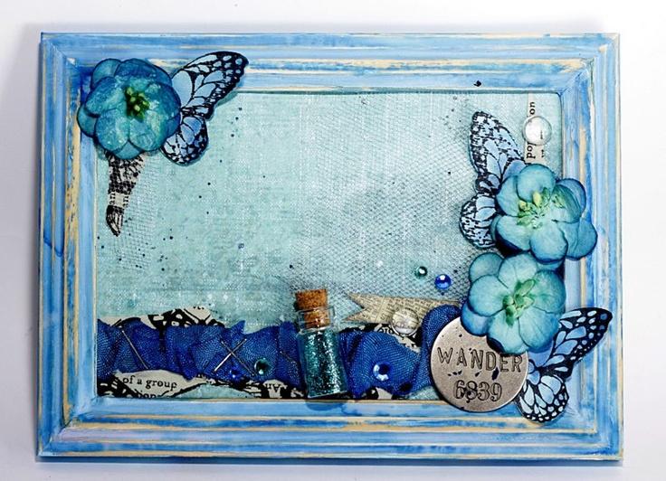Fabulous frame by Dorota Dołęga with 3rd Eye TES-076 grim butterfly stamp ♥