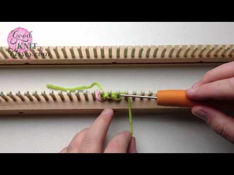 Loom Knit - ▶ Cast On Series: True Cable Cast On (easy no crochet hook) matches needle knit  version - From GoodKnitKisses via YouTube.
