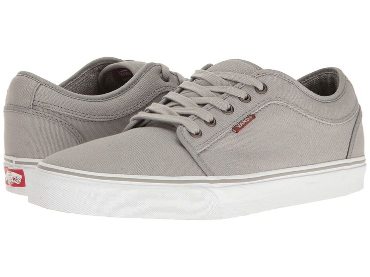 VANS VANS - CHUKKA LOW ((10 OZ. CANVAS) GREY/WHITE) MEN'S SKATE SHOES. #vans #shoes #