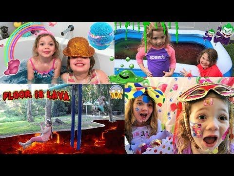 Challenges for Kids Floor is Lava Bath Bombs Box of Lies Gummy Vs Real G...