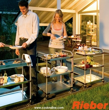 these elegant yet sturdy serving carts by RIEBER Germany are amazing. All made from 304 German stainless steel...