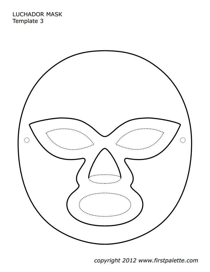 Mexico Party Mask Template 36