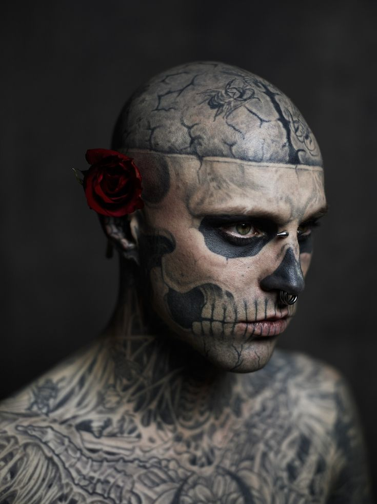 "rhubarbes: "" Zombie Boy / Rick Genest Photoshoot by Joey L. """