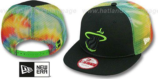 Heat 'MESH TYE-DYE SNAPBACK' Hat by New Era on hatland.com