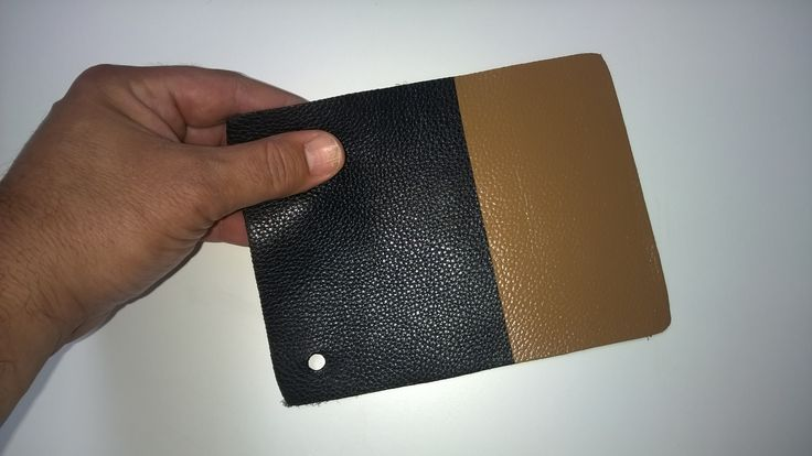 I was recently asked if it is possible to recolour black leather to a lighter colour. It depends on your chosen colour as some pigments have better coverage than others. This photo illustrates that it is possible, for example, to change from black to tan, which has an oxide yellow base (excellent coverage).