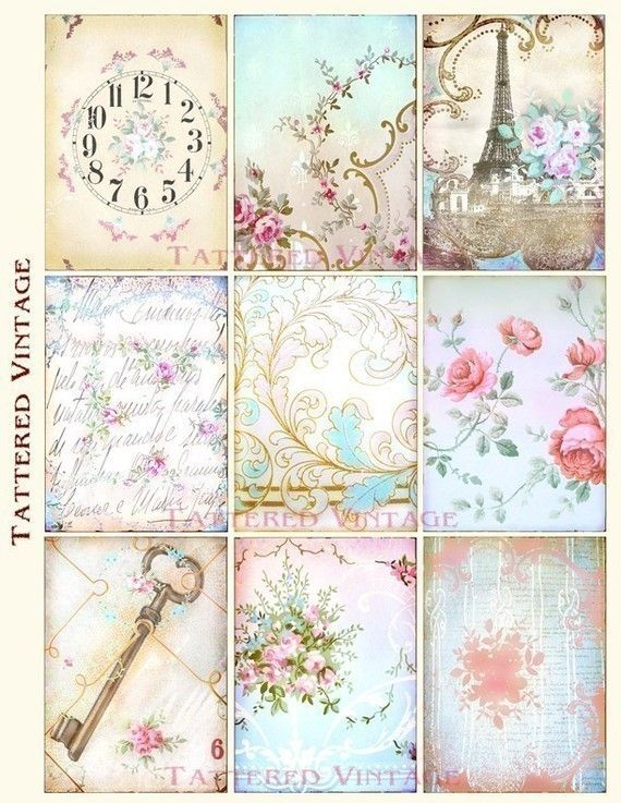 Shabby chic printables found on - Manualidades shabby chic ...
