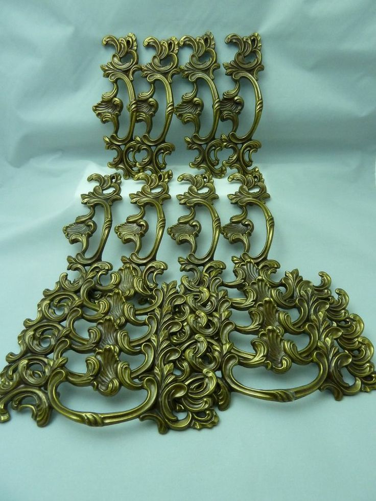 Large Antique French Drawer Pulls