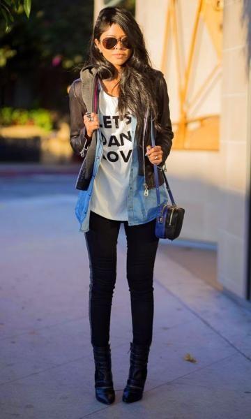 Look: Jaqueta + Camisa Jeans