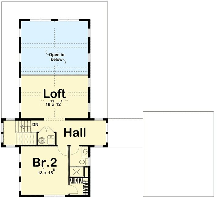 Plan 62650DJ: Modern Farmhouse Plan with 2 Beds and Semi ...
