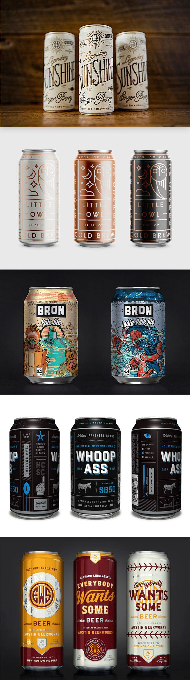 The explosion of the craft beer scene over recent years has given graphic designers a great opportunity to create artwork for beer cans. Unlike the mainstream brands, independent microbreweries can be more experimental with their branding, which leads to some really cool packaging designs for their products. In today's showcase I present 40 of the …