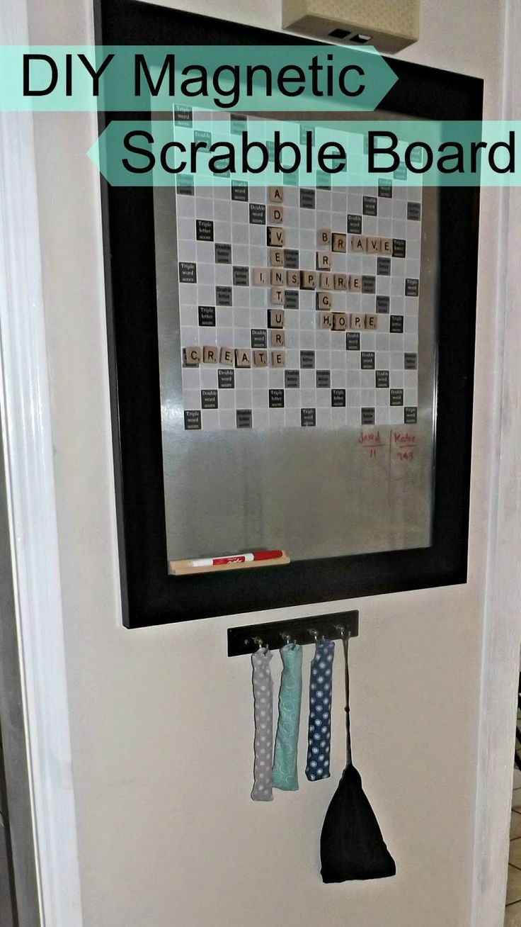 Diy magnetic scrabble board. Fun for the whole family!