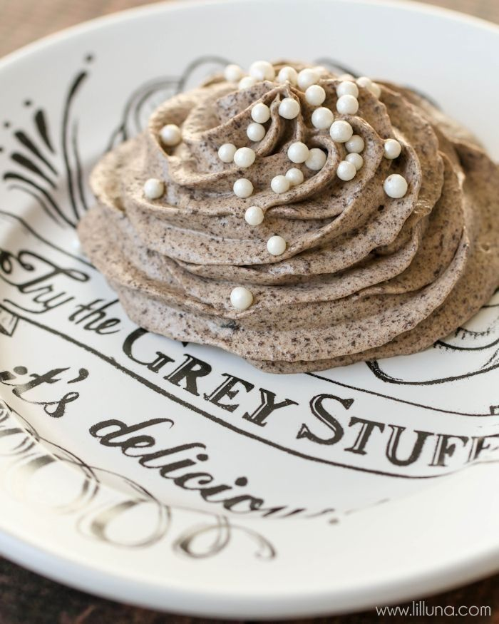 """Disney Grey Stuff recipe """"try the grey stuff, it's delicious! Don't believe me? Ask the dishes!"""""""