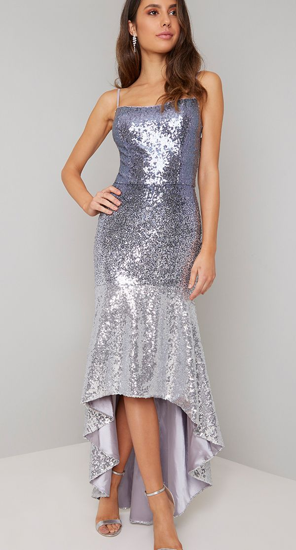 143f04c9eda1 Silver Sequin Mermaid Dress. Sequin Dress for Christmas Party. New Years  eve party dress
