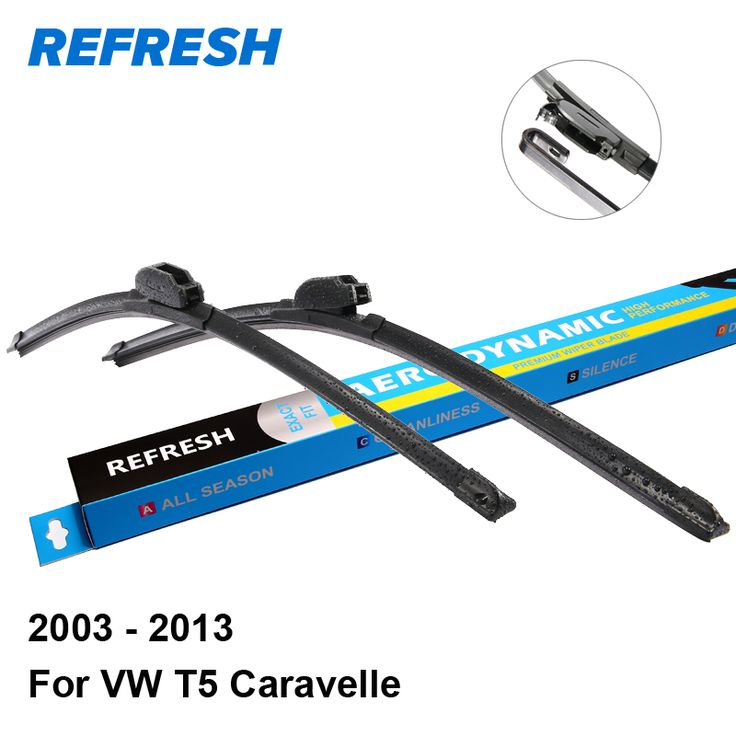 "Refresh Wiper Blades for Volkswagen T5 Caravelle 24""&23"" Fit Hook Arms 2003 2004 2005 2006 2007 2008 2009 2010 2011 2012 2013 #Affiliate"
