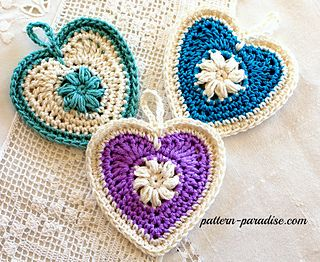 Sachets of Love crochet pattern - perfect for your favorite scent or fill with candy for a  unique gift.