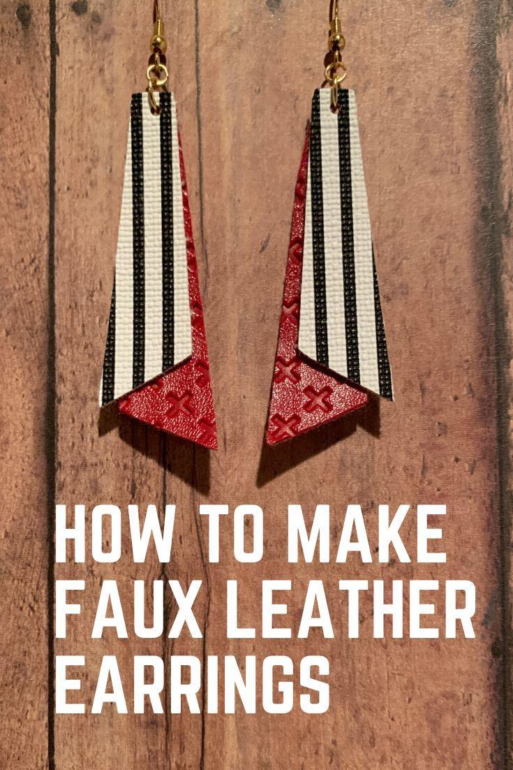 Pin On Faux Leather Earrings