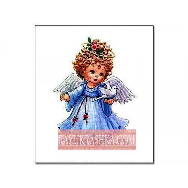 Папертоль «Ангел в голубом». Купить за 150 р. в магазине Разукрашка.