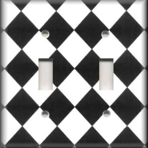 light switch plate cover black and white harlequin checkered design 12 best harlequin decor images on pinterest   furniture futon      rh   pinterest