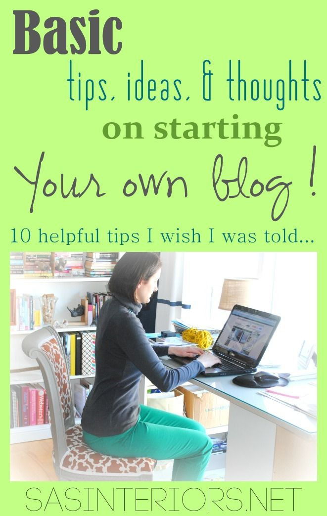 After blogging for 2+ years, Blogger @Jenna_Burger is sharing basic tips, ideas, and thoughts on starting your own blog  - as a hobby or a business!