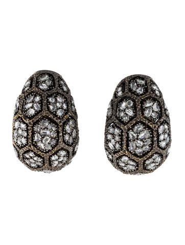 Lorraine Schwartz Rose Cut Diamond Hoop Earrings $17,995.00