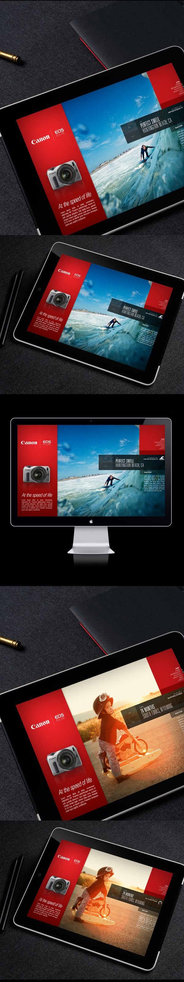Canon EOS-M / Campaign Microsite by Thomas Moeller, via Behance