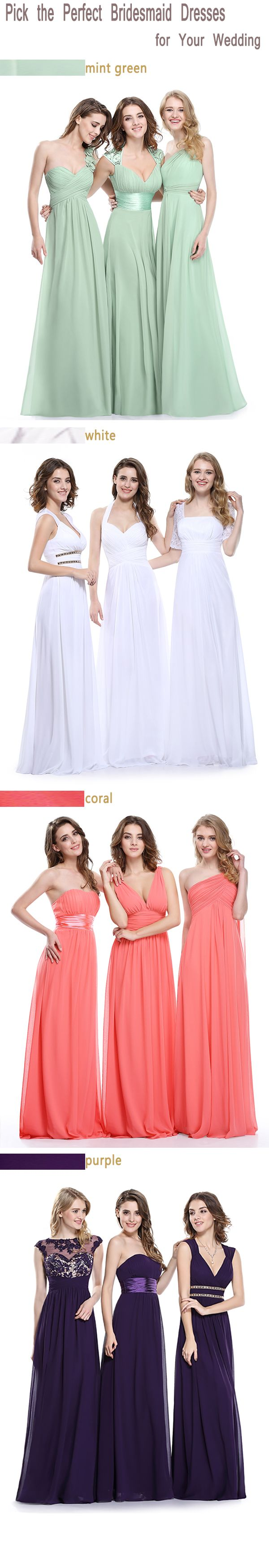 Pick the perfect bridesmaid dresses for your wedding 2016 for Mint color wedding dress
