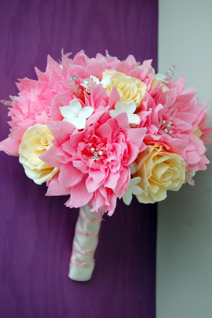 192 best Paper Bouquets images on Pinterest | Paper flower bouquets ...