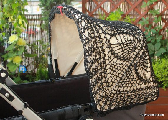 Crochet canopy cover for Bugaboo & UppaBaby by RubyCrochetShop