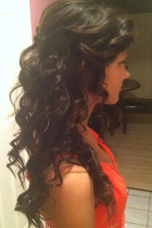 long hair - Hairstyles and Beauty Tips - Gorgeous romantic look good for evening waer.