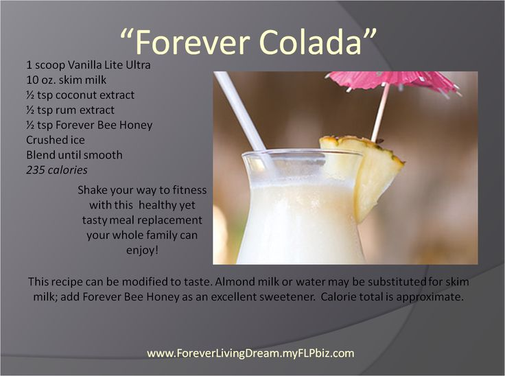 forever living recipes using vanilla lite ultra protein shake. www.thealoeladyuk.com