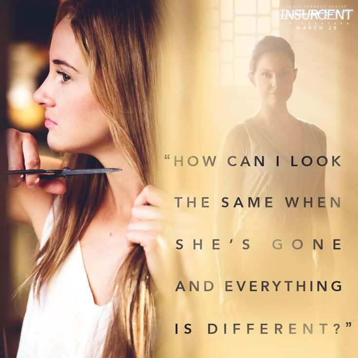 In Insurgent, Tris transforms in more ways than one.