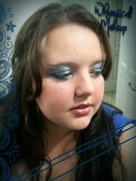 Blue Eyes Blue #bluesmoke #blueeyeshadow #softlips #tagforlikes #makeup #pretty #lilly #blueeyesblue #blue