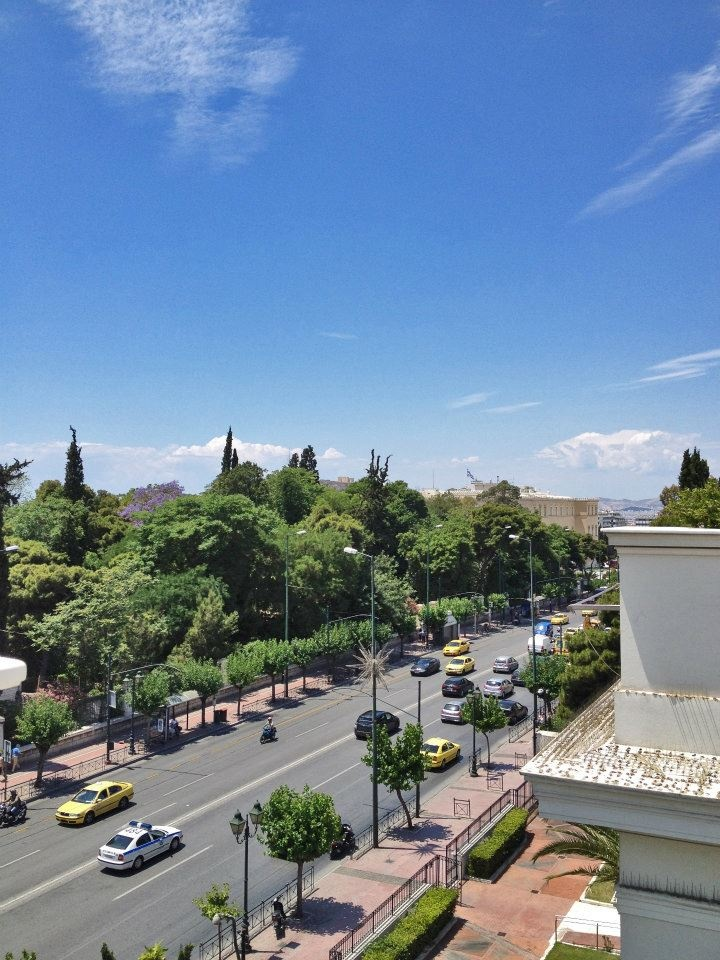 VISIT GREECE| View of the National Garden from the roof cafe @Benaki Museum (Main Building), Vas, Sofias Av., #Athens