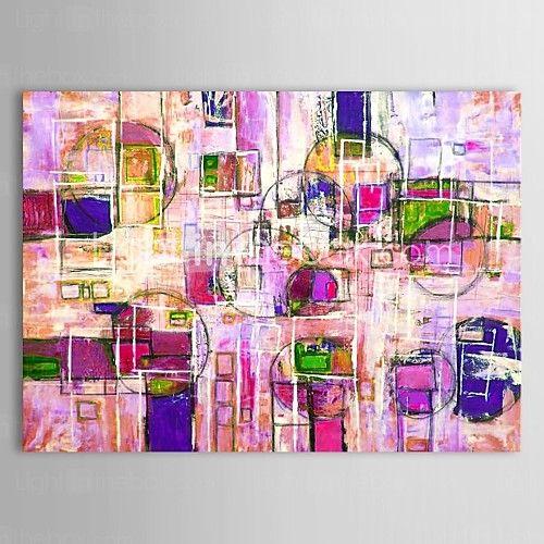 Pintada a mano Abstracto Un Panel Lienzos Pintura al óleo pintada a colgar For Decoración hogareña - EUR €44.09