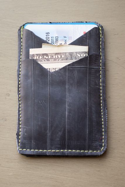 Recycled Bike Tube Card Wallet Tutorial: