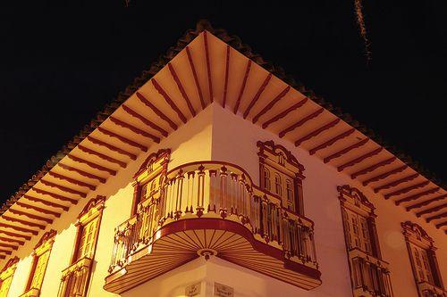 Arquitectura tradicional en Bahareque en Salamina, Caldas.