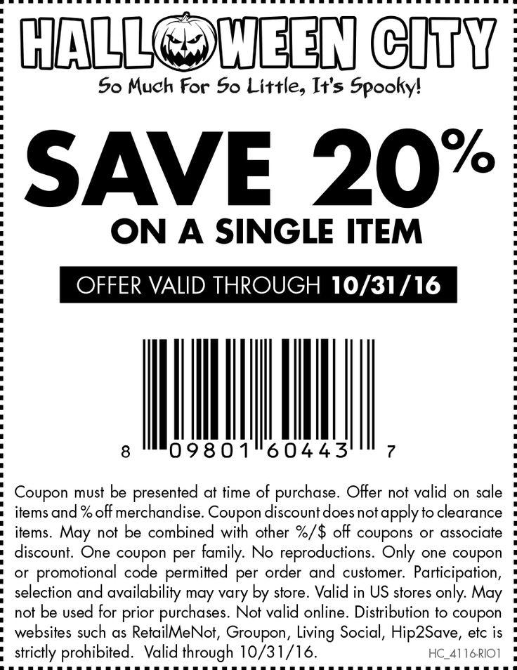 Más de 20 ideas increíbles sobre Halloween city coupons en Pinterest
