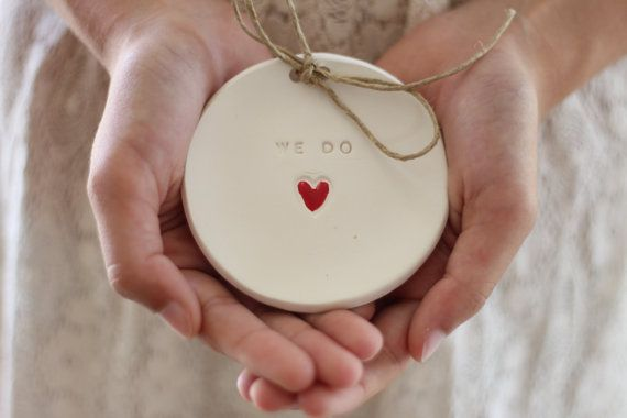 Ring Träger Kissen alternative Ehering Inhaber von CeramicsByOrly