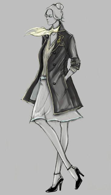 Fashion Illustrator Mengjie Di Uniform Design Photoshop